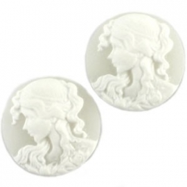 Camee ivoor wit/ wit