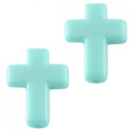 Kruis licht azuur blauw (10 stuks)