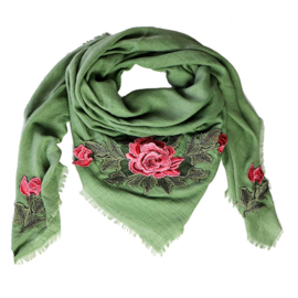 Sjaal met rozen
