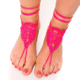 Urban Hippies barefoot sandalen, bubblegum