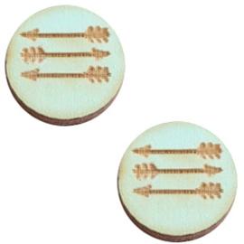 Houten cabochon 12 mm