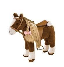 34 02375 Stevig paard met poppenhaar