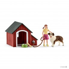 Hondenhok met border collie 42376
