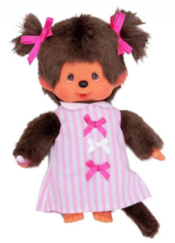 Meisje Pink Ribbon Dress 20cm (M3589)