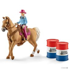 Barrel racing met cowgirl 41417