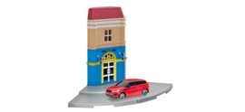 800099   Hotel with Range Rover Evoque die-cast model