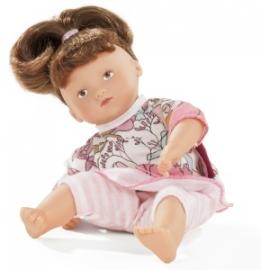 16 87224 Mini Muffin met bruin haar. 22 cm
