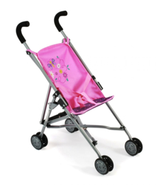 BC60140 Poppenbuggy Roma (stippen paars/roze)