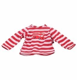 3402450 T-shirt rood/wit. 30-34cm.