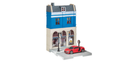 800037  Bank Building with Audi R8 die-cast model