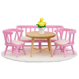 LY602079 Smaland eettafelset (roze)