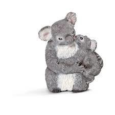 14677 Koala met jong. Out