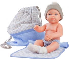 Mini Pikolines jongen met tas (32cm)