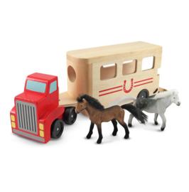 14097 paardentrailer + 2 paarden.