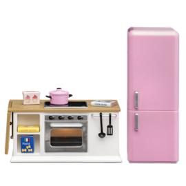 LY602027 Set - Keuken (wit) met koelkast