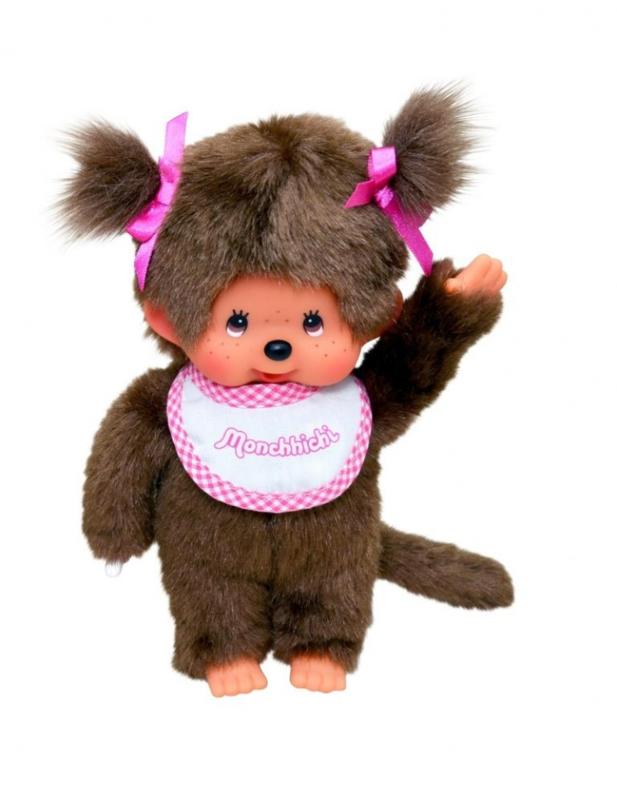 Meisje met slab, roze 20cm (M5550)