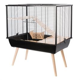 Hamsterkooi / rattenkooi Muki zwart