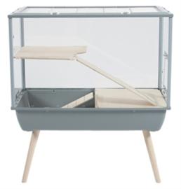 Hamsterkooi / muizenkooi Nevo Palace Plexiglas grijs