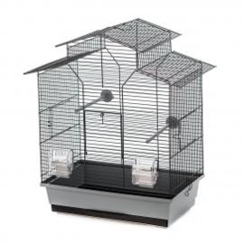 Vogelkooi Iza 2 grijs/zwart