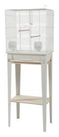 Vogelkooi CHIC LOFT 1 met meubel wit