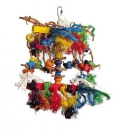 Vogelspeelgoed 122 (papegaai/grote parkiet)