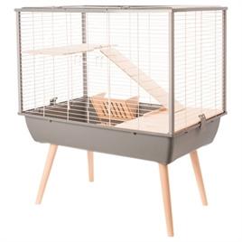 Hamsterkooi / rattenkooi Muki grijs
