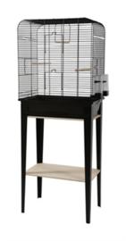 Vogelkooi CHIC LOFT 2 met meubel zwart