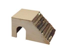 Hamsterhuis met schuin dak