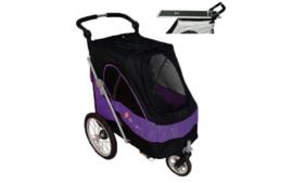 Luxe Hondenbuggy met extra Trimblad - Black/Purple > 30 kilo