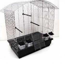Vogelkooi Ula zwart/chroom