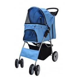 Hondenbuggy blauw (4 wielen)