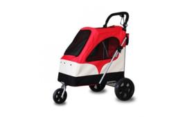 Hondenbuggy De Luxe rood (3 wielen)