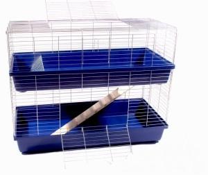 Konijnenkooi / caviakooi Skyline Rabbit 100 dubbel donkerblauw