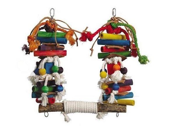 Vogelspeelgoed 146 (papegaai/grote parkiet)