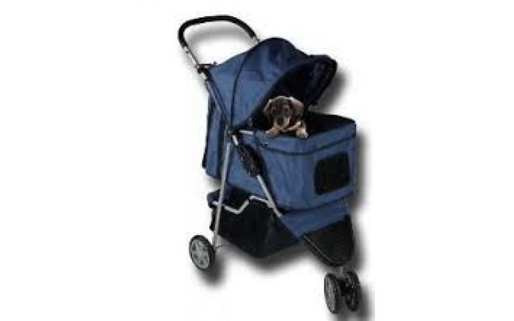 Hondenbuggy donkerblauw