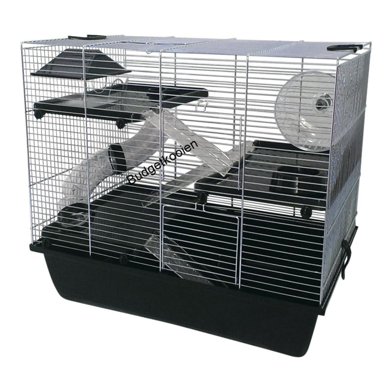 Hamsterkooi Pinky 3 zwart