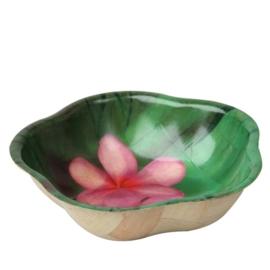 Bakje met bloem roze