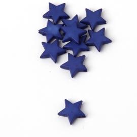 Ster kralen blauw 10 stuks