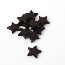 Ster kralen zwart 10 stuks