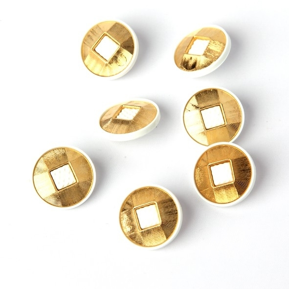 Knoop goud/wit