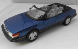 Saab 900 Cabrio blauw Boss