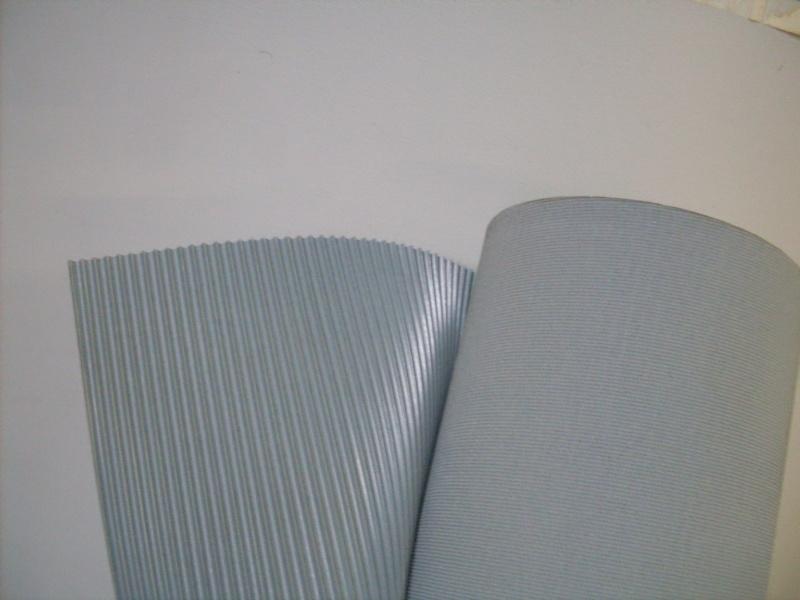 Rubberen vloermat grijs voor- en achter