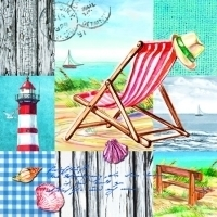 Servetten beach chair 5 stuks