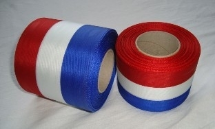 rood, wit, blauw band 70 mm