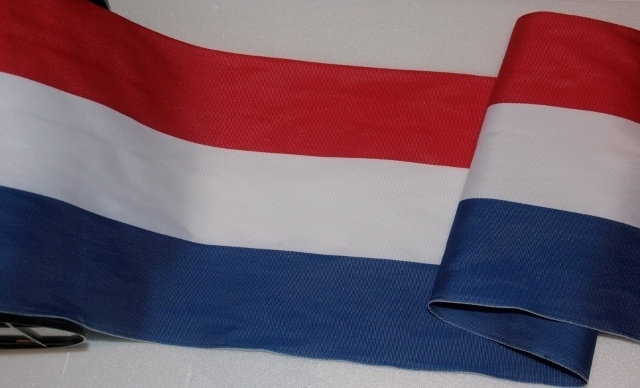 band rood, wit, blauw 15 cm breed