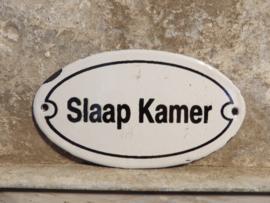 Emaille plaatje 'Slaap Kamer'