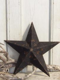 Amish ster zwart dia 23 cm