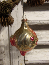 Antieke kerstbal vis