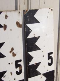 Emaille Franse waterpeil plaat