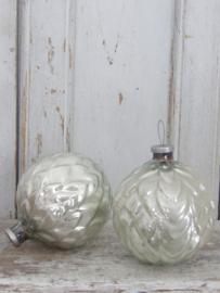 Grote oude glazen (Kerst)bal